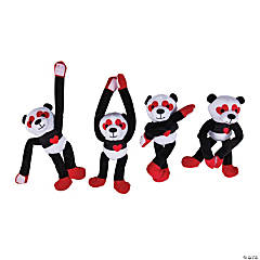Valentine Long Arm Stuffed Pandas