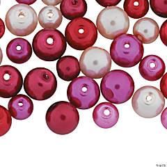 Valentine Love Pearl Bead Assortment - 5mm-8mm
