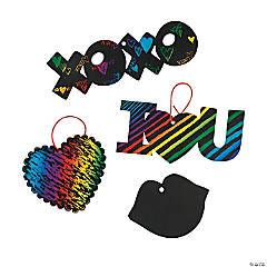 Valentine Magic Color Scratch Ornaments