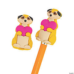 Valentine Meerkat Pencil Toppers