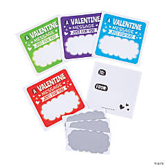 Valentine Message Scratch-Off Stickers