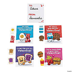 Valentine Mini Food Characters with Cards