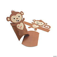 Valentine Monkey Pillow Boxes