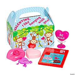 Valentine Monkey Pre-Filled Favor Boxes