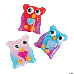 Valentine Owl Lampwork Beads