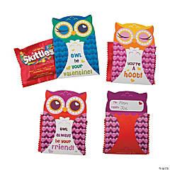 Valentine Owl Skittles® Valentine Card Kit