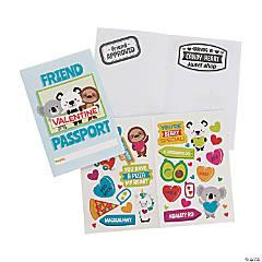 Valentine Passport Sticker Books