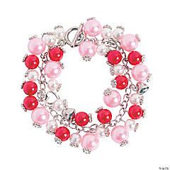 Valentine Pearl Charm Bracelet Craft Kit