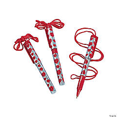 Valentine Pens on A Rope
