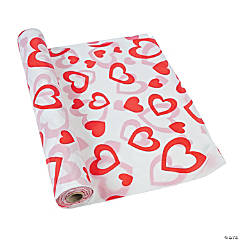 Valentine Plastic Tablecloth Roll