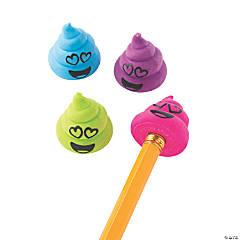 Valentine Poop Emoji Eraser Pencil Toppers