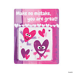 Valentine Puzzle Erasers with Card