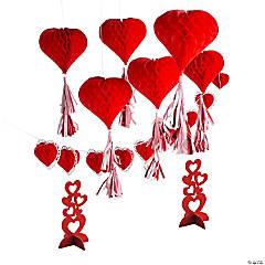 Valentine Red Hearts Decorating Kit