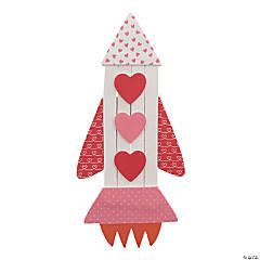 Valentine Rocket Ship Magnet Craft Kit
