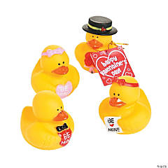 Valentine Rubber Duckies with Display Card
