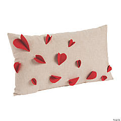 Valentine's Day Decorative Hearts Pillow