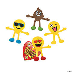 Valentine's Day Emoji Bendables with Card