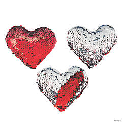 Valentine's Day Flipping Sequins Plush Hearts