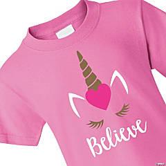Valentine's Day Unicorn Believe Youth T-Shirt