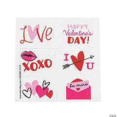 Valentine's Day XOXO Love Temporary Tattoos