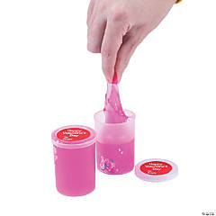 Valentine Slime Containers with Glitter Hearts