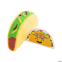 Valentine Slow-Rising Taco Squishies with Card
