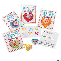 Valentine Stamper Rings with Card