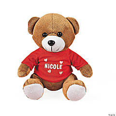 Valentine Stuffed Bear with Personalized T-Shirt
