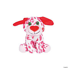 Valentine Stuffed Dogs with Heart Nose