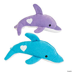 Valentine Stuffed Dolphins