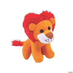Valentine Stuffed Lions with Heart-Shaped Mane
