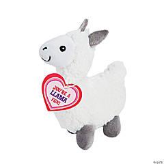 Valentine Stuffed Llamas with Card