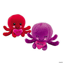 Valentine Stuffed Octopus