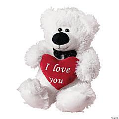 Valentine Stuffed Polar Bear