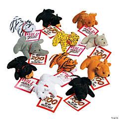 Valentine Stuffed Zoo Animals with Card
