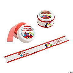 Valentine Tape Roll Gum Kit – 24 Pc.