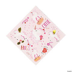 Valentine Unicorn Luncheon Napkins