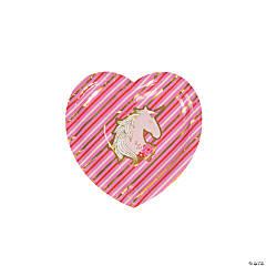 Valentine Unicorn Paper Dessert Plates - 8 Ct.