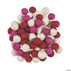Valentine Wool Felt Pom-Poms