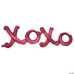 Valentine XOXO Mylar Balloon Photo Prop
