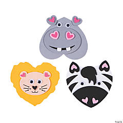 Valentine Zoo Animal Magnet Craft Kit