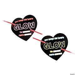 Valentine's Day Cards with Glow Bracelets