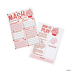 Valentine's Day MASH Game Cards