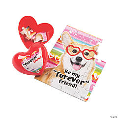 Valentine's Day Puzzles in Heart Containers