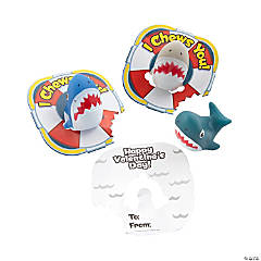 Valentine's Day Shark Finger Puppets with Card