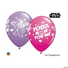 """Valentine's Day Star Wars™ Yoda One for Me 11"""" Latex Balloon Assortment"""