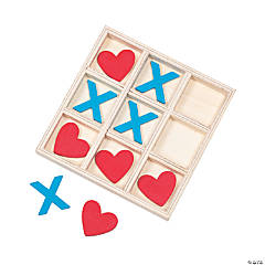 Valentine's Day Wooden Tic-Tac-Toe Game