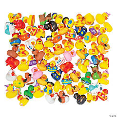 Value Series: 4 Bulk Rubber Ducky Assortment - 600 Pc.