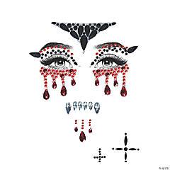 Vampire Jeweled Face Sticker