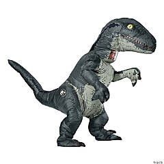 Velociraptor Adult Inflatable Costume With Sound